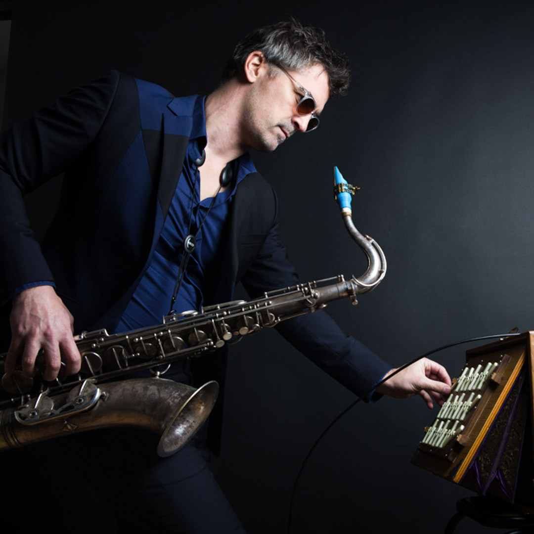 Sylvain Rifflet plays on a Syos tenor saxophone mouthpiece