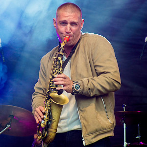 James Morton with his Syos saxophone mouthpiece