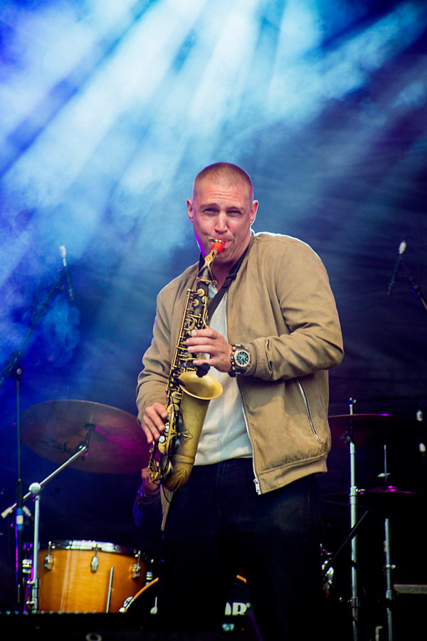 James Morton from The Herbaliser plays on his Syos alto saxophone mouthpiece