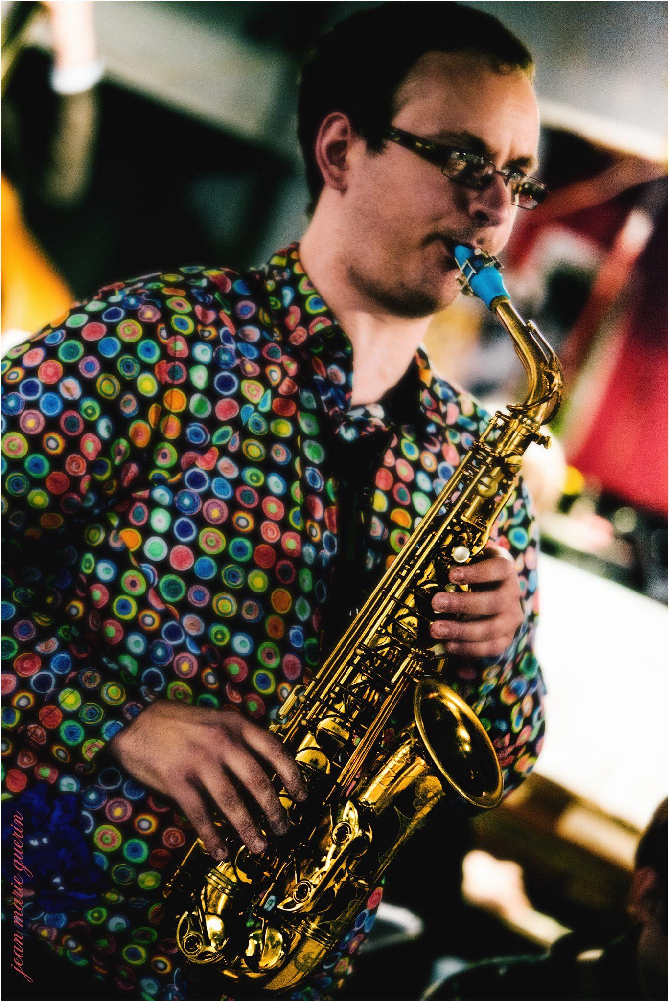 Pascal Mabit and his Syos blue alto saxophone mouthpiece
