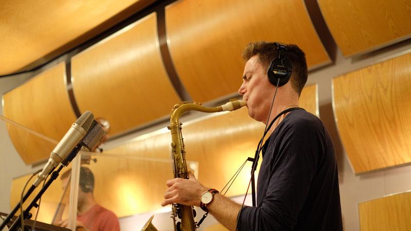 Daniel Weidlein plays a Syos tenor saxophone mouthpiece