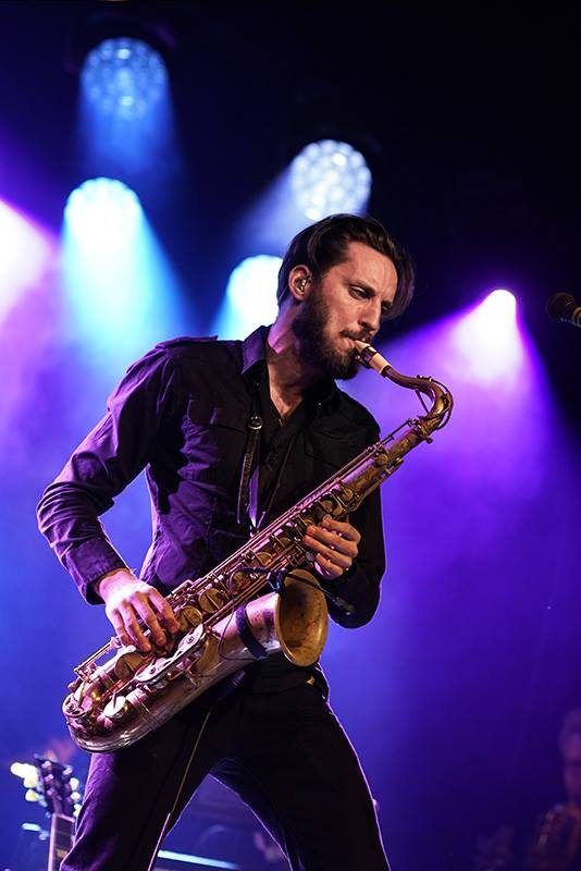 Saxophonist Jorgen Munkeby and his Syos tenor saxophone mouthpiece