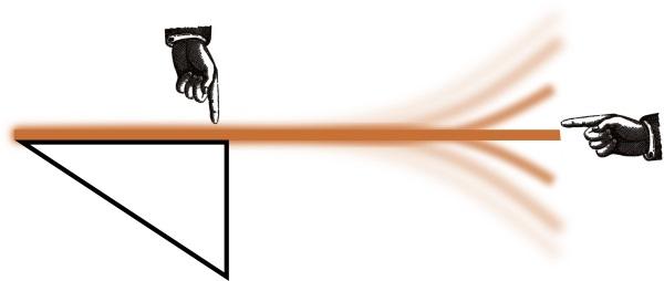 Analogy between a saxophone ligature and a ruler