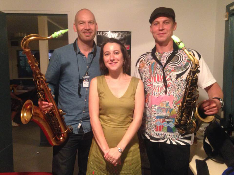 Pauline Eveno from Syos with Andrew Ross & James Morton from The Herbaliser