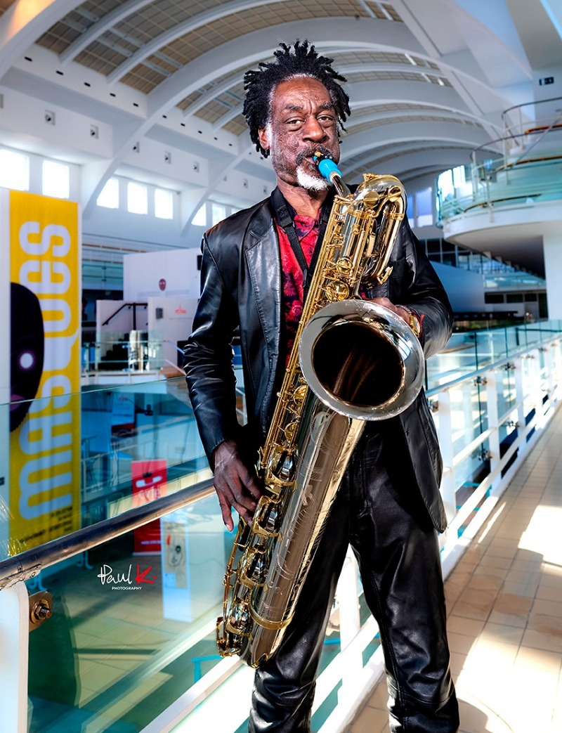 Knoel Scott plays a Syos saxophone mouthpiece