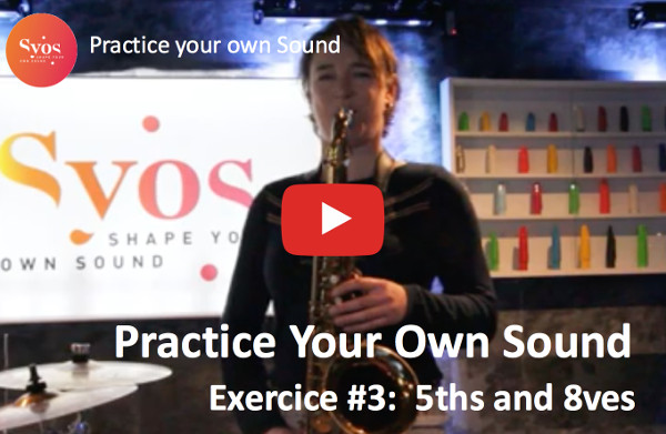 Saxophone sound practice #3: 8ves and 5ths