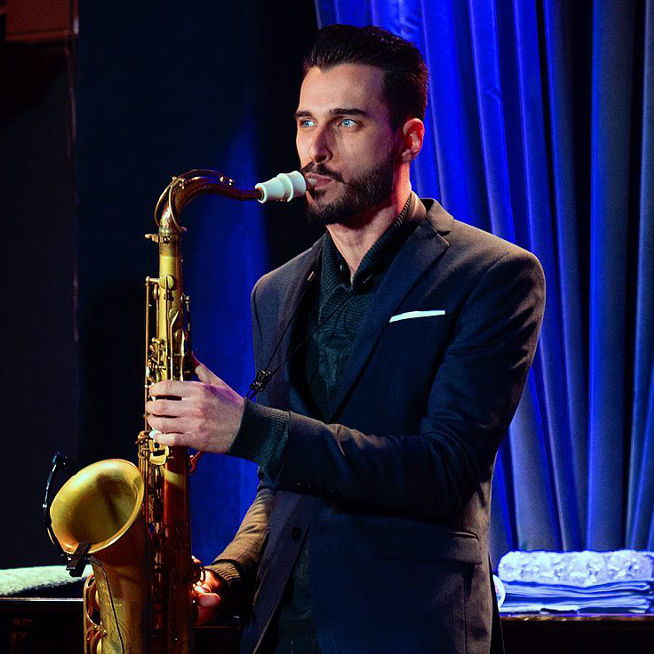Chad Lefkowitz-Brown plays a Syos tenor saxophone mouthpiece