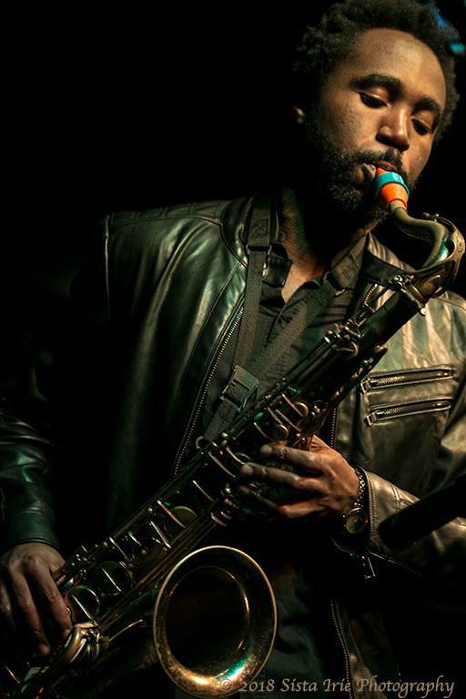 Zem Audu and his Syos tenor saxophone mouthpiece