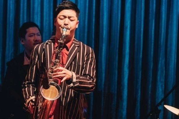 Tomoaki Baba and his Syos tenor saxophone mouthpiece