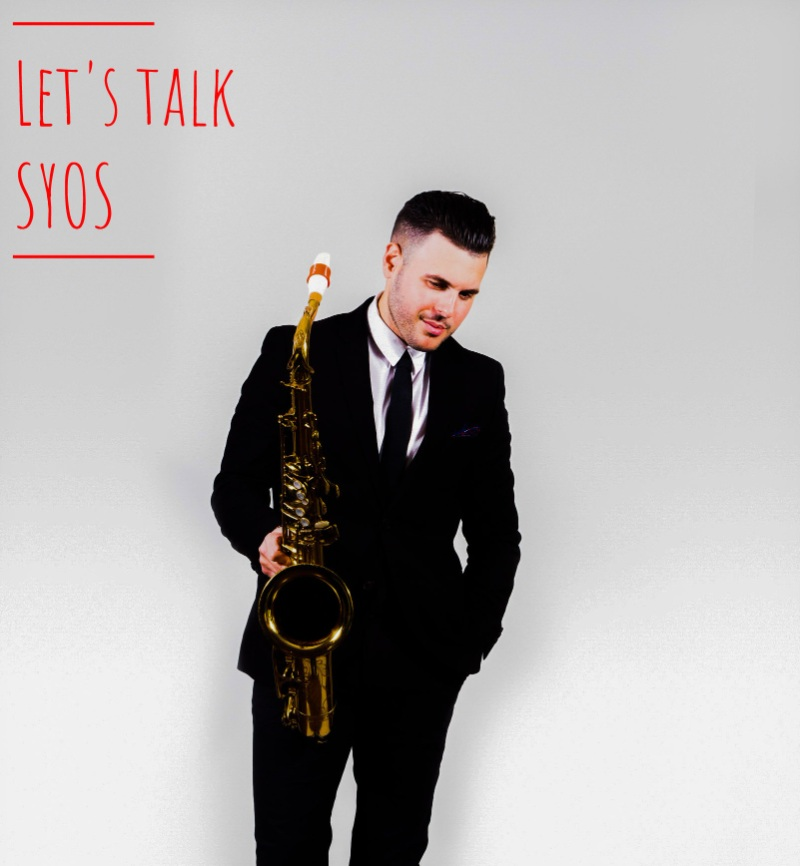 John Aaron Troy plays a Syos saxophone and clarinet mouthpiece
