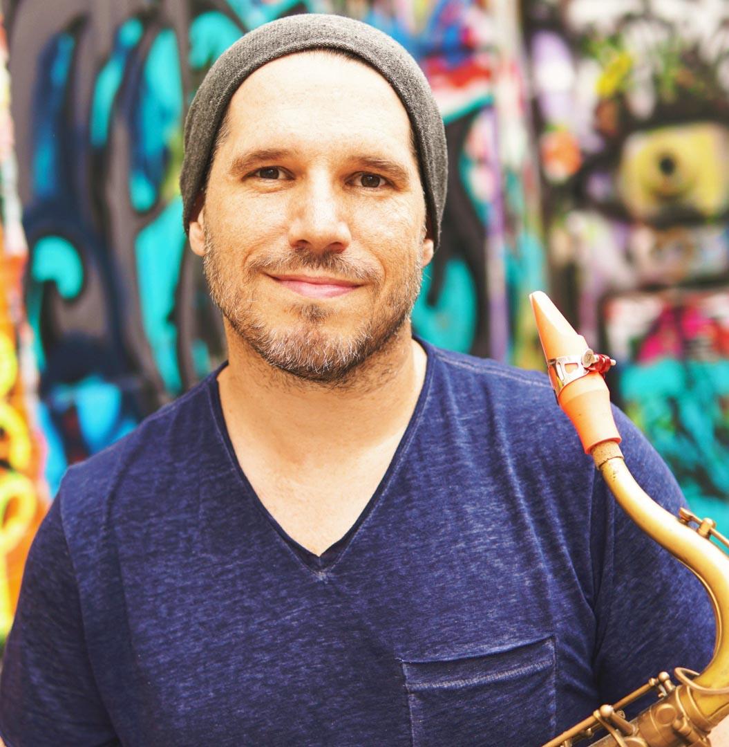 Scott Paddock plays a Syos saxophone mouthpiece