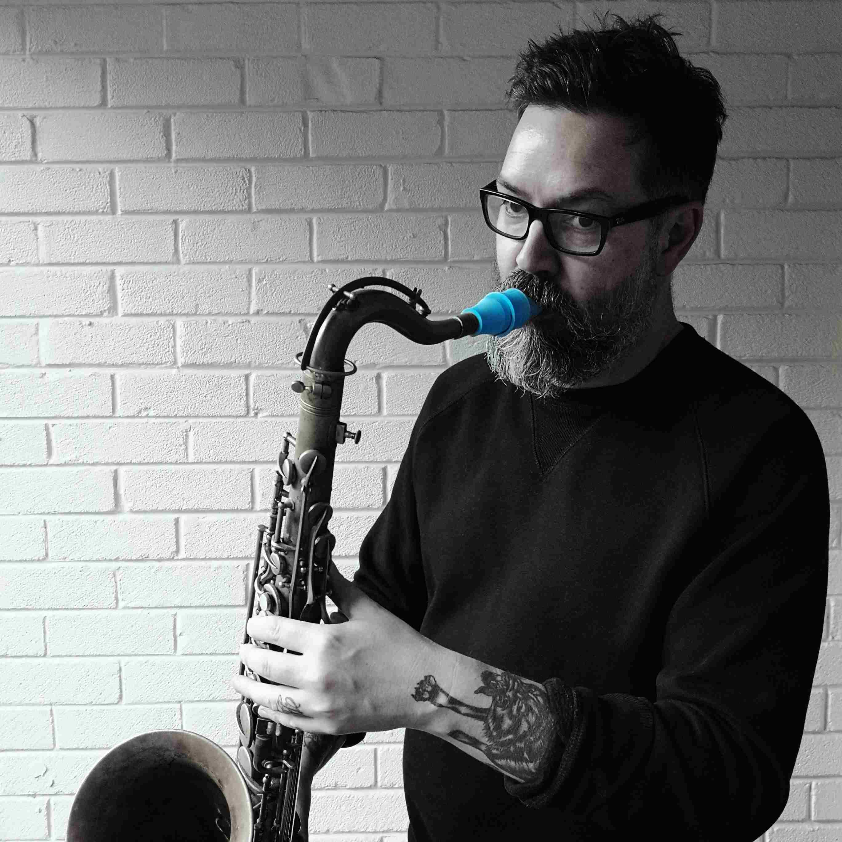Bob Whittaker plays a Syos tenor saxophone mouthpiece