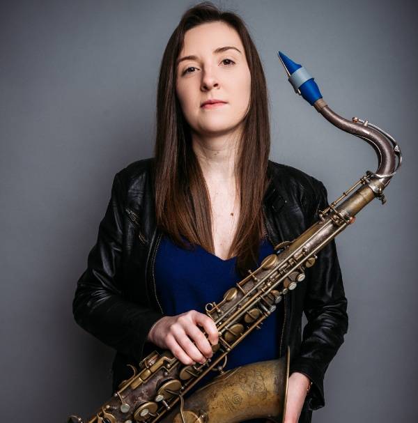Emma Johnson plays a Syos tenor saxophone mouthpiece