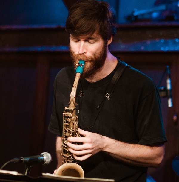 Caleb Curtis plays a Syos alto saxophone mouthpiece