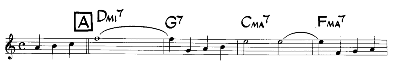 Extrait du thème de jazz autumn leaves