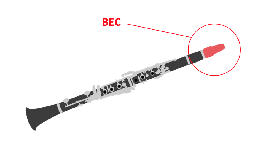 Un bec de clarinet