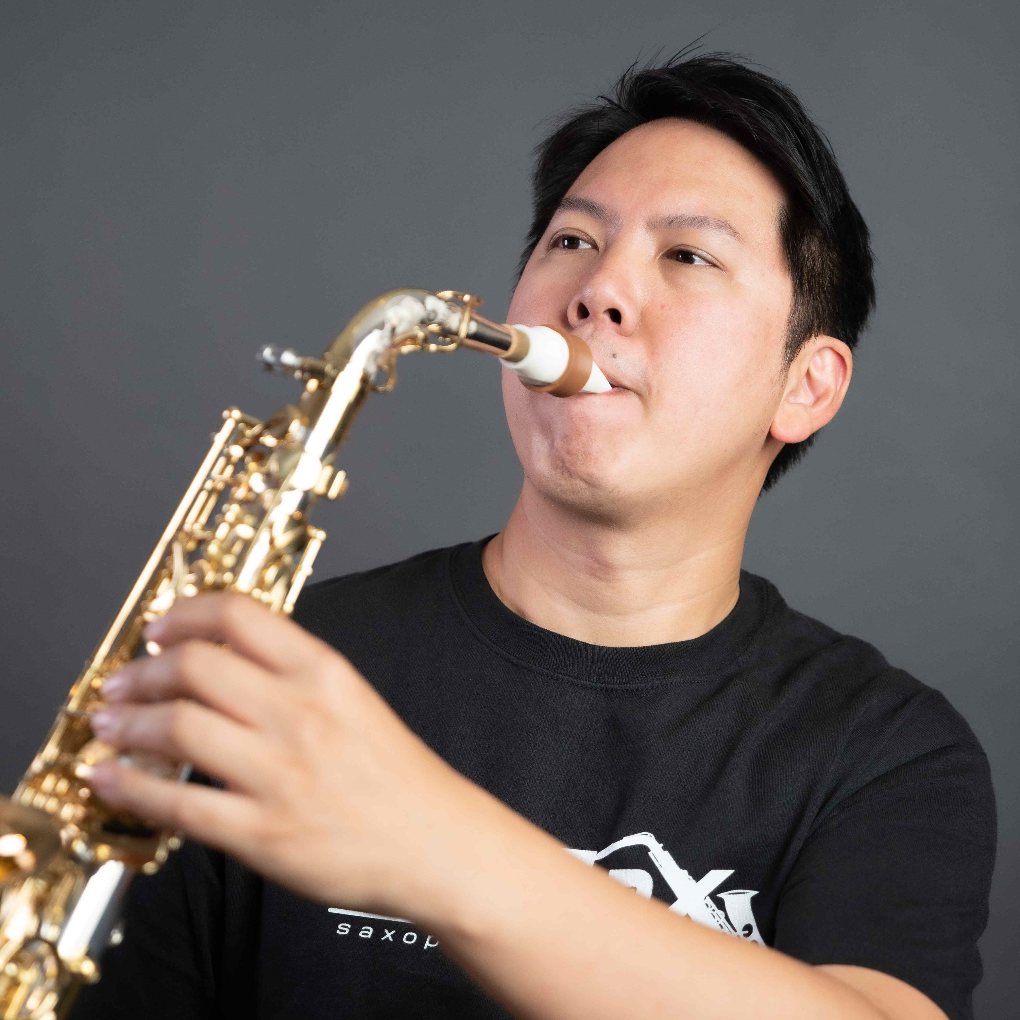 William Chien plays a Syos mouthpiece for alto saxophone