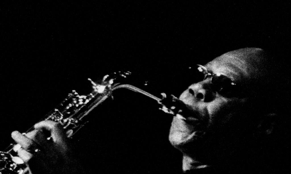 Manu Dibango playing saxophone