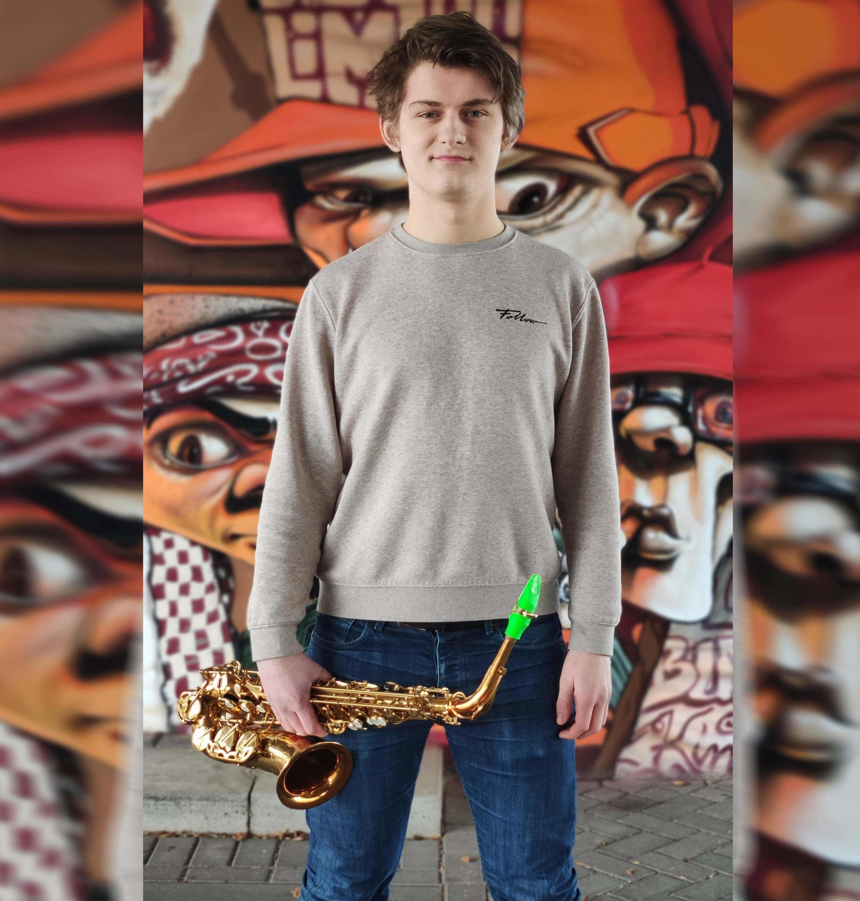 Karsten Belt plays a Syos saxophone mouthpiece