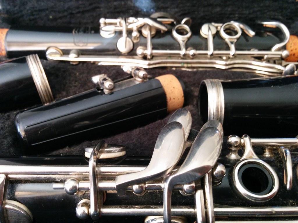 A dissasembled clarinet