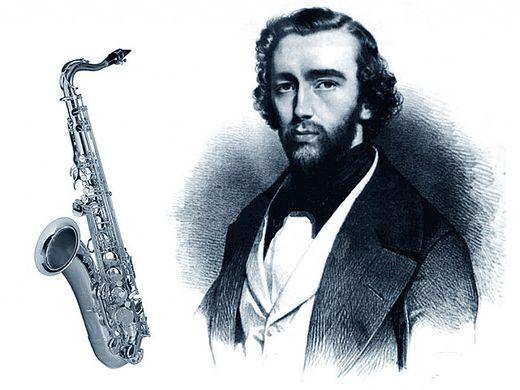 Adolphe Sax et son saxophone