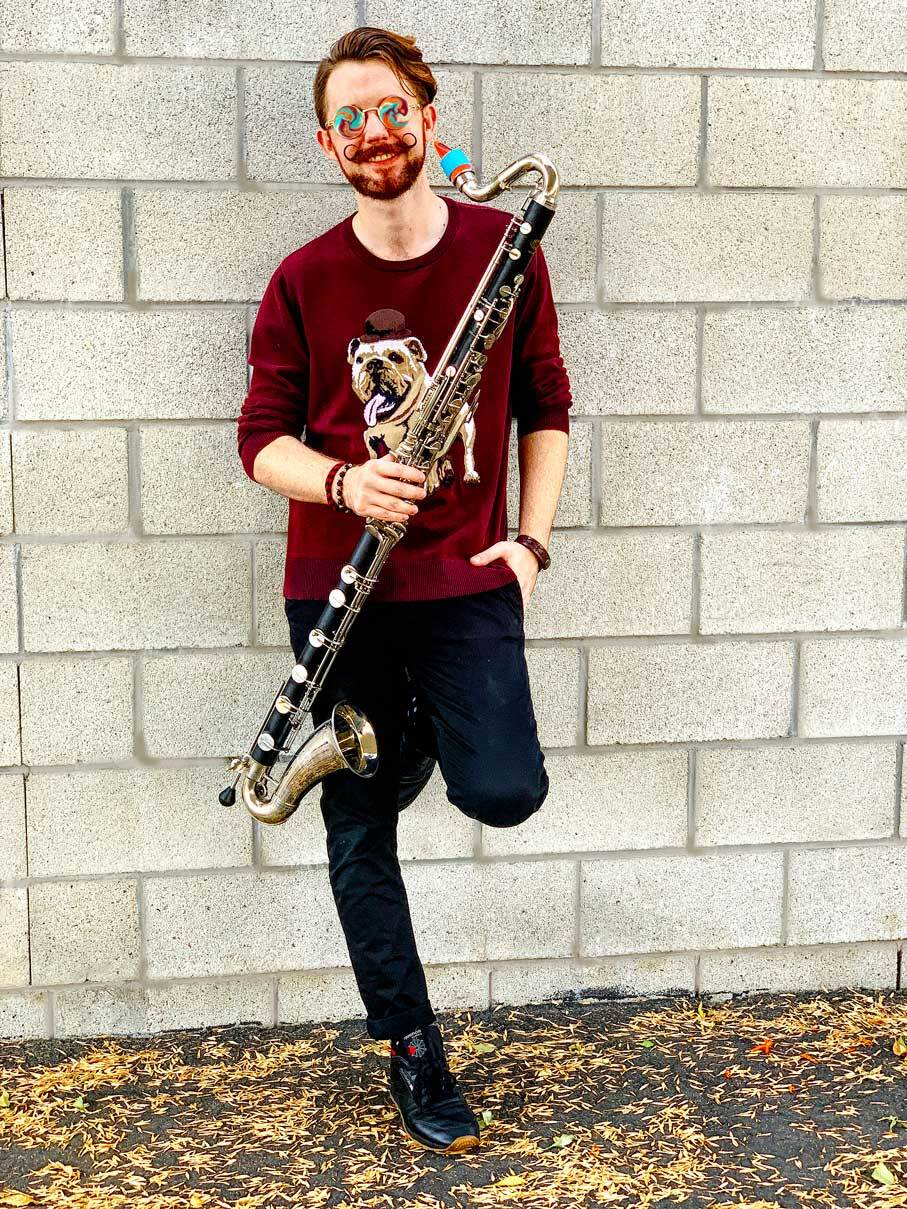 Eric Croissant plays a Syos mouthpiece on his bass clarinet